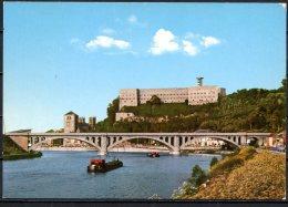 CP   Huy    ---   La Meuse , Le Fort Et La Collégiale - Huy