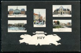 CP   Huy   ---   5 Vues  ::  Hôtel - Gare - Marché - Pont Et Fontaine  --  Multivues  1906 - Huy