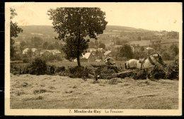 CP   Moulin-du-Ruy  --  La Fenaison  --  Attelage  --  Animé - Stoumont