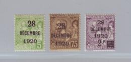 MONACO 1921- Série YT 48/50 -Baptême De La Princesse Antoinette, Timbres De 1901/20 Surchargés - Neuf * - Monaco
