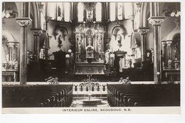 SCOUDOUC, New Brunswick, Canada, Church Interior, Old RPPC - Nouveau-Brunswick