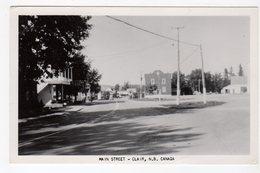 CLAIR, New Brunswick, Canada, Main Street & Businesses, 1957 RPPC - Nouveau-Brunswick