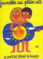 """Lettre + Affichette """"Jeunesse Au Plein Air 1974"""" (2 Scans) - Commemorative Labels"""