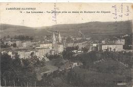 LA LOUVESC . VUE GENERALE PRISE AU DESSUS DU BOULEVARD DES ELEGANTS . ECRITE AU VERSO - La Louvesc