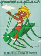 """Affichette  """"Jeunesse Au Plein Air 1973"""" - Commemorative Labels"""