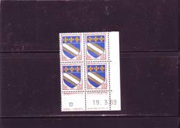 N° 1353 - 0,10F Blason De TROYES - O De O+P - 2° Tirage Du 6.3.69 Au 3.4.69 - 19.03.1969 - - Coins Datés