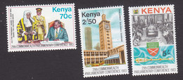 Kenya, Scott #274-276, Mint Hinged, 29th Commonwealth Parliamentary Conference, Issued 1983 - Kenya (1963-...)
