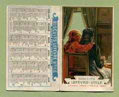 "CALENDRIER  1902 : "" BISCUITS "" LU "" - LEFEVRE UTILE ""  CHROMO - Calendriers"