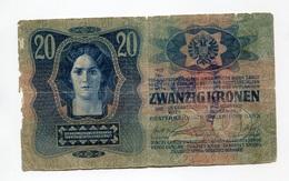 Serbie Serbia Ovp Austria Hungary Overprint  20 Kronen / Korona 1913 # 4 - Serbie