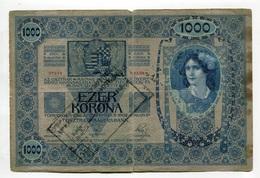 Serbie Serbia Ovp Austria Hungary Overprint 1000 Kronen 1902 RARE # 5 - Serbie
