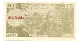 Billet Scolaire De 10 Francs - Books, Magazines, Comics