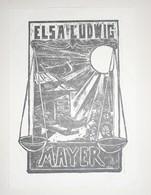 Ex-libris Moderne XXème Illustré -  Allemagne - ELSA LUDWIG MAYER - Ex Libris