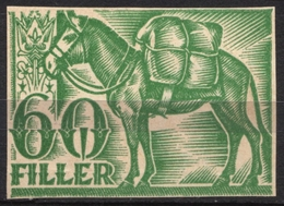 1930's Hungary - REVENUE TAX STAMP / Animal HORSE Passport CUT  - Used - Horses
