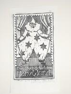 Ex-libris Moderne XXème Illustré -  Allemagne - Clown - Hans Wurst - Ex-libris