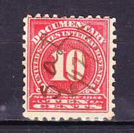 USA, Gebuehrenmarke, 10 Cent (49723) - Gebührenstempel, Impoststempel