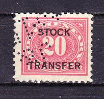 USA, Gebuehrenmarke, 20 Cent (49728) - Gebührenstempel, Impoststempel