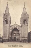 LA LOUVESC . FACADE DE LA BASILIQUE St-REGIS  . ECRITE AU VERSO - La Louvesc