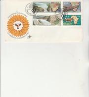 AFRIQUE DU SUD - LETTRE FDC AFFRANCHIE SERIE N° 706 A 709  - ANNEE 1990 - FDC