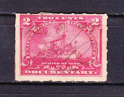 USA, Gebuehrenmarke, 2 Cent, Dampfschiff, 1898 (49730) - Gebührenstempel, Impoststempel