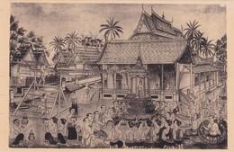 LUANG PRABANG - Royaume , La Fête Du PRABANG / ASPERSION D EAU PARFUMEE - Laos