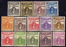 Tunisie Taxe  N° 37 / 50 X  La Série Des 14 Valeurs Trace De Charnière Sinon TB - Tunisia (1888-1955)