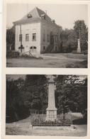 FRIESEN : Carte-photo Double Vues (mairie - Monument Aux Morts.) - France