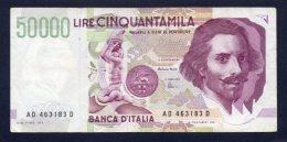 Banconota Italia - 50.000 Lire Bernini 1997 - Circolata - [ 2] 1946-… : République
