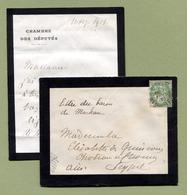 BARON DE MACKAU  :  DEPUTE MONARCHISTE  (1901) - Autographes