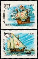 ~~~ Argentina 1991 - UPAEP Ships Good Set - Mi. 2094/2095 ** MNH OG ~~~ - Argentinië