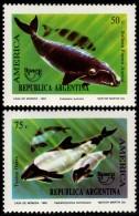~~~ Argentina 1993 - UPAEP Fish Whales Orca Good Set - Mi. 2190/2191 ** MNH OG ~~~ - Argentinië