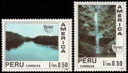 ~~~ Peru 1991 - UPAEP Geology Cascade Waterval  Good Set - Mi. 1454/1455 ** MNH OG ~~~ - Peru