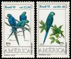 ~~~ Brazil 1993 - UPAEP Fauna Birds Parrot - Mi. 2548/2549 ** MNH OG  ~~~ - Brazilië