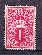 Bayern, Gebuehrenmarke, 1 Mark (49734) - Gebührenstempel, Impoststempel