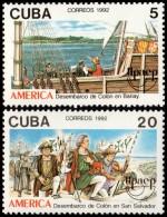 ~~~ Cuba 1992 - UPAEP America Ships Boats - Mi. 3569/3570 ** MNH OG  ~~~ - Ongebruikt