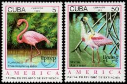 ~~~ Cuba 1993 - UPAEP Fauna Birds Pelican - Mi. 3705/3706 ** MNH OG  ~~~ - Cuba