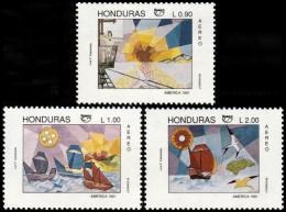 ~~~ Honduras 1992 - UPAEP America Ships Paintings  Good Set - Mi. 1131/1133 ** MNH OG ~~~ - Honduras