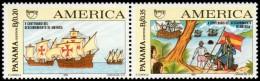 ~~~ Panama 1992 - UPAEP America Ships Boats  Good Set - Mi. 1737/1738 ** MNH OG ~~~ - Panama