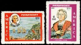 ~~~ Paraguay 1992 - UPAEP America Ships Boats  Nice Set - Mi. 4595/4596 ** MNH OG ~~~ - Paraguay