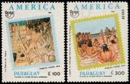 ~~~ Paraguay 1991 - UPAEP America Natives  Nice Set - Mi. 4555/4557 ** MNH OG ~~~ - Paraguay