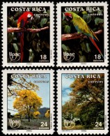 ~~~ Costa Rica 1990 - UPAEP Fauna Birds Parrot - Good Set - Mi. 1381/1384 ** MNH OG ~~~ - Costa Rica