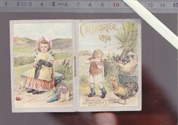 Petit Almanach Calendrier  1894 - Cacao Van Houten Hollande - Rare   - 8 X 5.5 Cm - Calendars