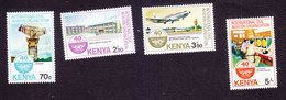 Kenya, Scott #293-296, Mint Hinged, Int'l Civil Aviation Org, Issued 1984 - Kenya (1963-...)