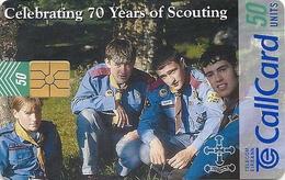 Ireland - Eircom - 70 Years Of Scouting - 50Units, 07.1997, 50.000ex, Used - Ireland