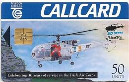 Ireland - Eircom - Air Corps Alouette III - 50Units, 06.1994, 75.000ex, Used - Ireland