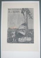 Ex-libris Moderne XXème Illustré -  Allemagne - KRIEGSLITERATUR - DR. J. KLÜBER - Ex Libris