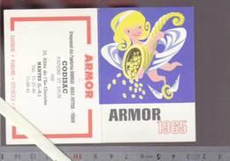 Calendrier Petit Format 1965 - Armor Papier Carbone - Nantes Corne D'abondance - Calendriers