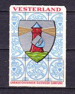 Zuendholzschachteletikett, Wappen, Vesterland (49737) - Zündholzschachteletiketten