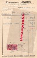 03-  DOYET- FACTURE ETS. LANORD- ALIMENTATION- HUILES- 1948 - Food