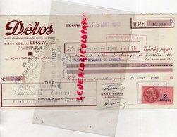 03 - BESSAY SUR ALLIER  - TRAITE  DELOS BISCUITS FRAIS- 1948- A M. LEFEVRE EPICERIE MONTMARAULT - Food