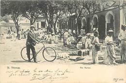 PIE-R-18-1772 : SAINT THOMAS. THE MARKET - Antilles Neérlandaises